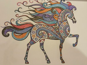 Horse w/ Colorful Mane