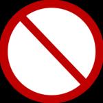 red circle sign